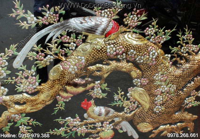 Tranh đồng mai hóa rồng đẹp nhất hiện nay