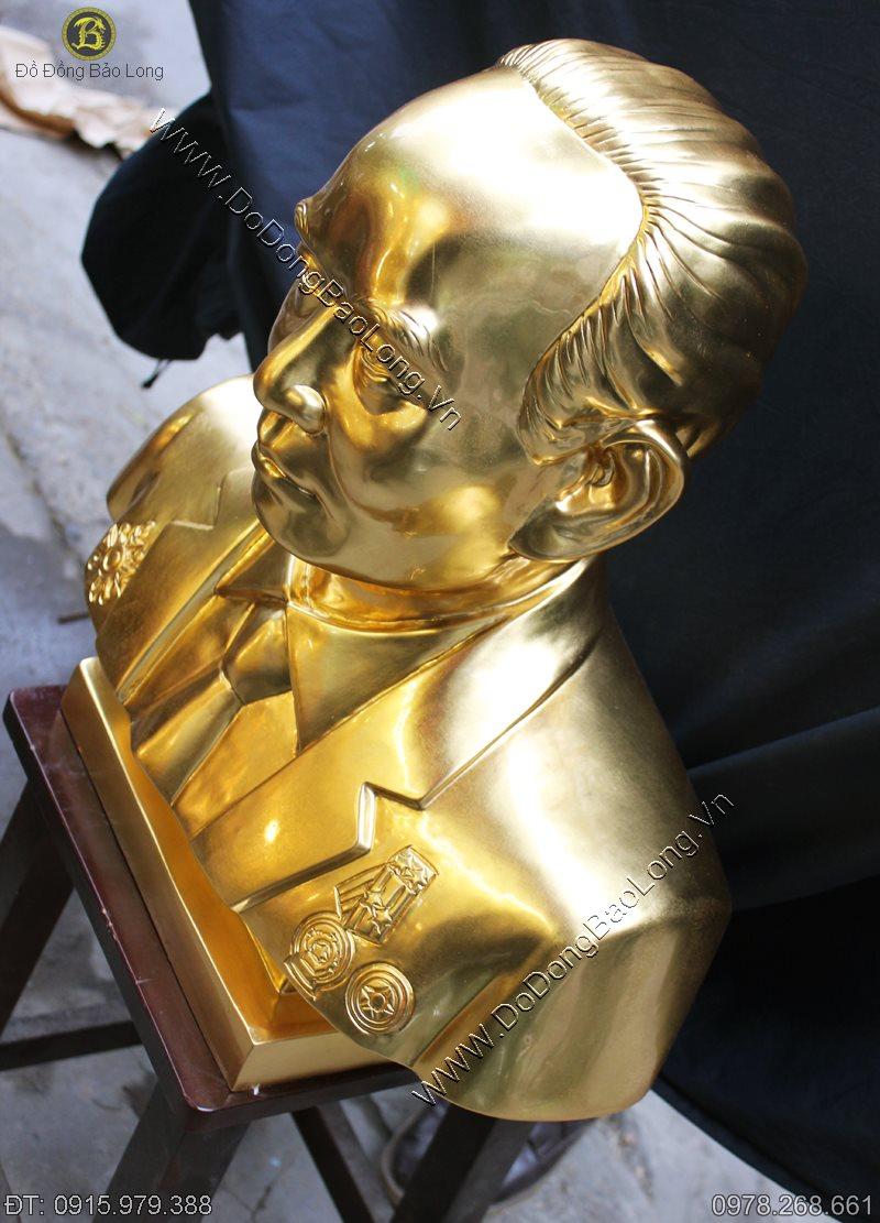 Tượng chân dung bằng đồng thếp vàng