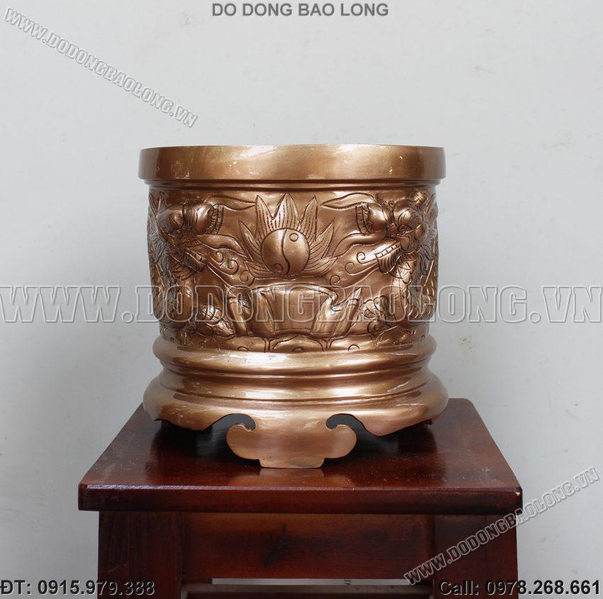 Bát hương đồng đỏ bày bàn thờ cúng gia tiên cao cấp