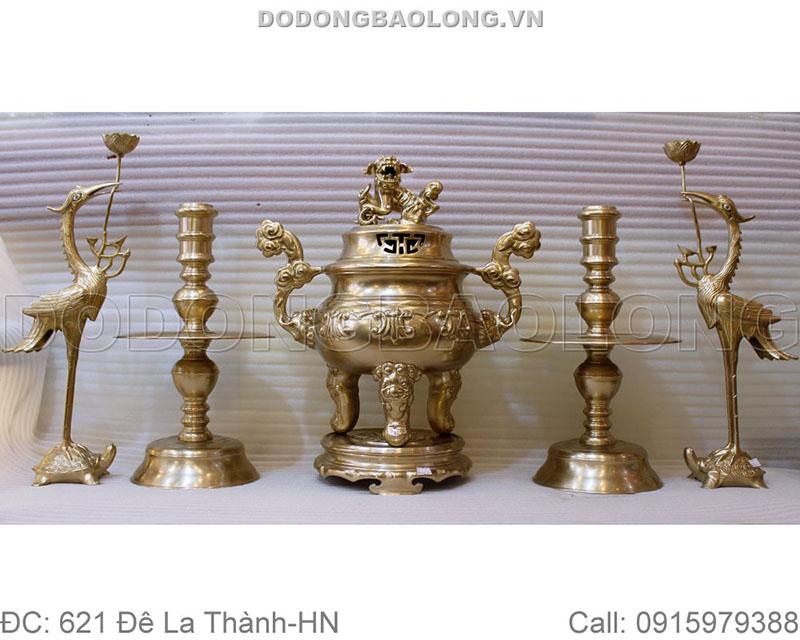 Đồ thờ cúng bằng đồng Ý Yên - Nam Định được đúc thủ công từ đồng vàng nguyên chất